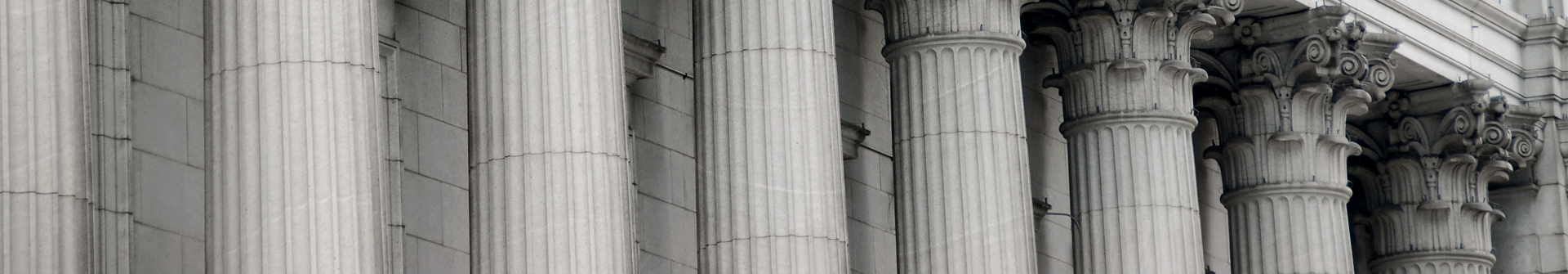 pillars in front of a courthouse.