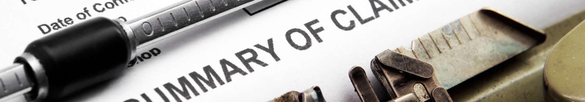 a Summary of Claim document.
